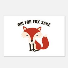 Oh! For Fox Sake Postcards (Package of 8)