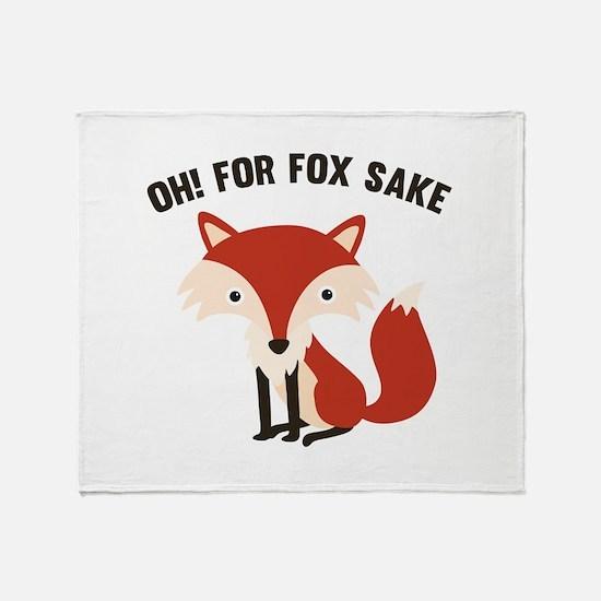 Oh! For Fox Sake Stadium Blanket