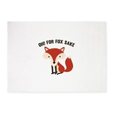 Oh! For Fox Sake 5'x7'Area Rug