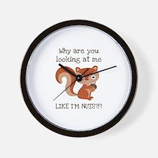 Like I'm Nuts?!? Wall Clock