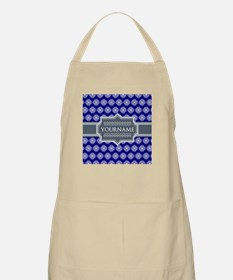 Blue Abstract Celtic Pattern Personalized Apron