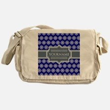 Blue Abstract Celtic Pattern Persona Messenger Bag