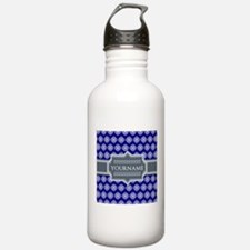 Blue Abstract Celtic P Water Bottle