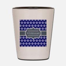 Blue Abstract Celtic Pattern Personaliz Shot Glass