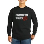 Off Duty Construction Worker Long Sleeve Dark T-Sh
