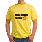 Off Duty Construction Worker Yellow T-Shirt
