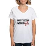 Off Duty Construction Worker Women's V-Neck T-Shir