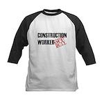 Off Duty Construction Worker Kids Baseball Jersey