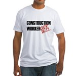 Off Duty Construction Worker Fitted T-Shirt
