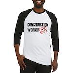 Off Duty Construction Worker Baseball Jersey