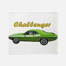 Challenger Green car Throw Blanket