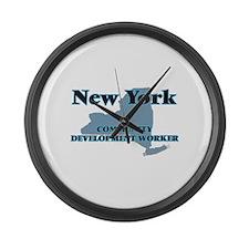 New York Community Development Wo Large Wall Clock