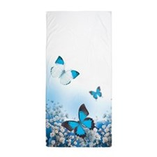 Flowers and Butterflies Beach Towel