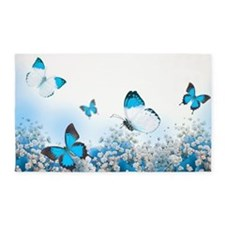 Flowers and Butterflies Area Rug