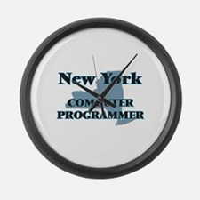 New York Computer Programmer Large Wall Clock