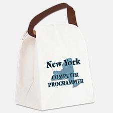 New York Computer Programmer Canvas Lunch Bag