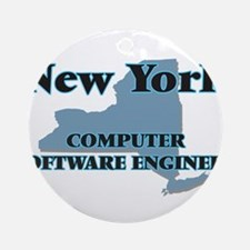 New York Computer Software Engineer Round Ornament