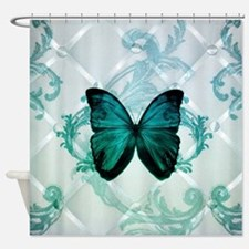 cute hipster girly butterfly Shower Curtain