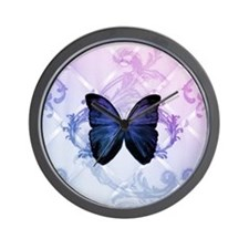 cute hipster girly butterfly Wall Clock