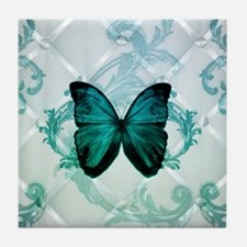 cute hipster girly butterfly Tile Coaster