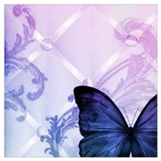cute hipster girly butterfly Poster