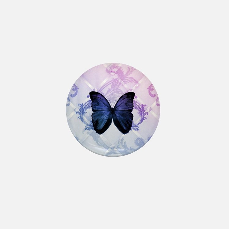 cute hipster girly butterfly Mini Button