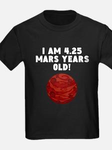 8th Birthday Mars Years T-Shirt