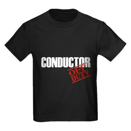 Off Duty Conductor Kids Dark T-Shirt