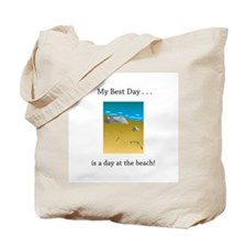 Best Day Footprints in Sand Gifts Tote Bag