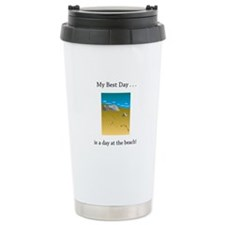 Best Day Footprints in Sand Gifts Travel Mug