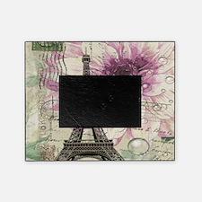 floral vintage paris eiffel tower Picture Frame