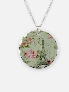 floral vintage paris eiffel  Necklace
