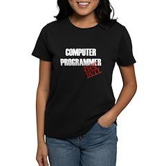 Off Duty Computer Programmer Women's Dark T-Shirt