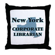 New York Corporate Librarian Throw Pillow