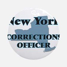 New York Corrections Officer Round Ornament