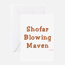 Shofar Blowing Maven Greeting Card