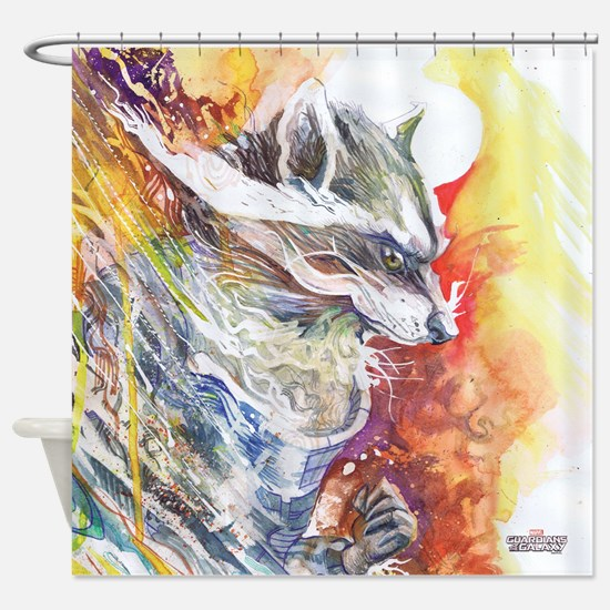 GOTG Rocket Shower Curtain