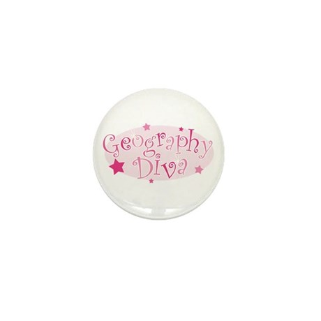 """""""Geography Diva"""" [pink] Mini Button"""