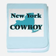 New York Cowboy baby blanket