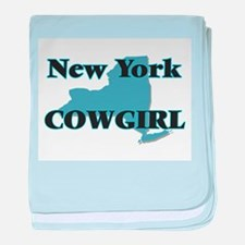 New York Cowgirl baby blanket