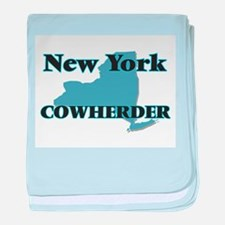 New York Cowherder baby blanket