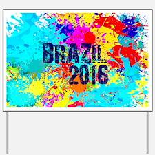 Brazil 2016 Carnival Burst Yard Sign