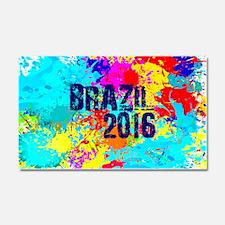 Brazil 2016 Carnival Burst Car Magnet 20 x 12