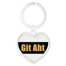 Cute Git Heart Keychain