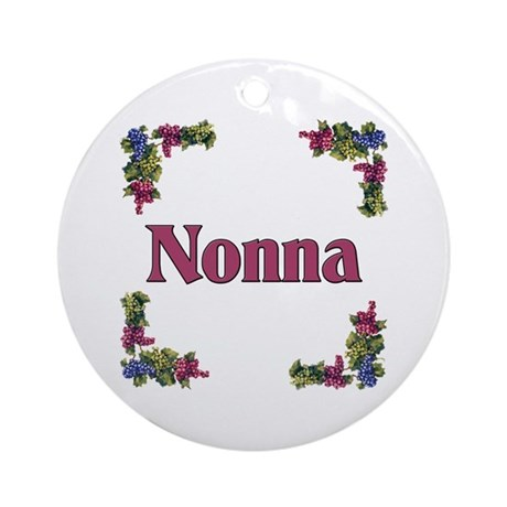 Nonna (Italian grandmother) Ornament (Round)
