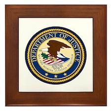 GOVERNMENR SEAL - DEPARTMENT OF JUSTIC Framed Tile