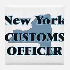 New York Customs Officer Tile Coaster