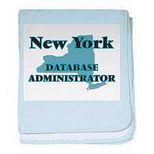 New York Database Administrator baby blanket