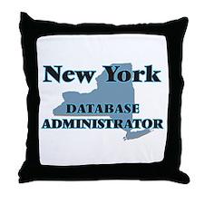 New York Database Administrator Throw Pillow