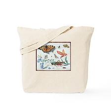 Butterflies & Grasshopper Tote Bag